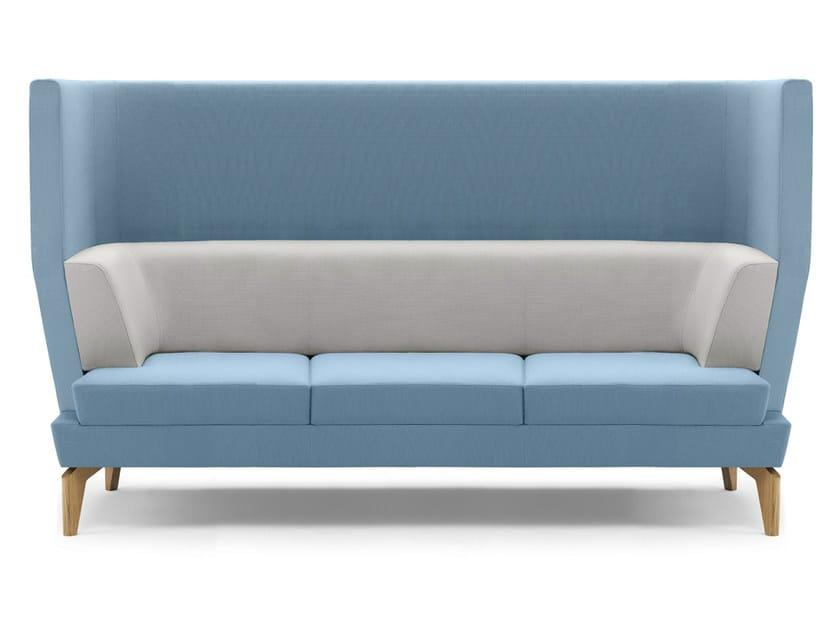 Upholstered 3 seater high-back sofa ENTENTE | High-back sofa by Boss Design