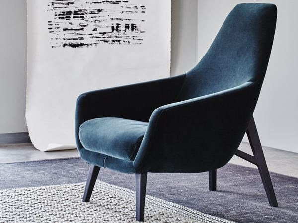 Fabric armchair with armrests ENZO | Fabric armchair by Montis