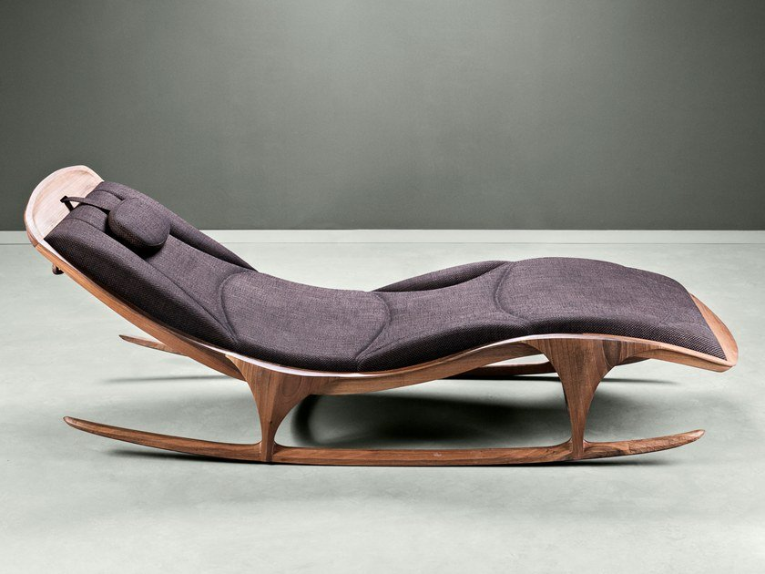 Upholstered fabric lounge chair ENZO by HOOKL und STOOL