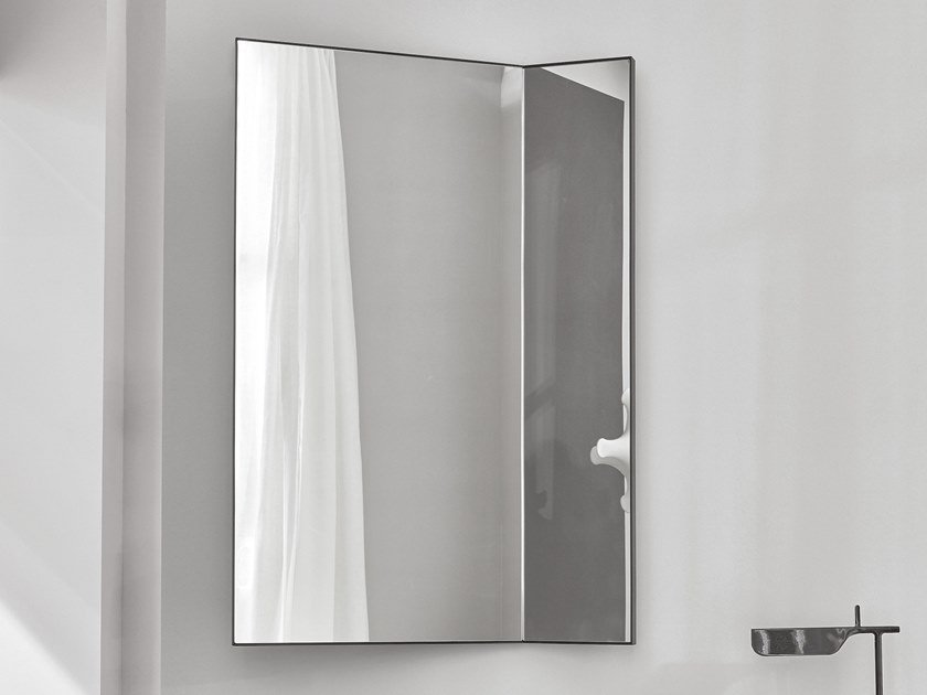 Wall-mounted mirror with cabinet PAN by Ceramica Cielo