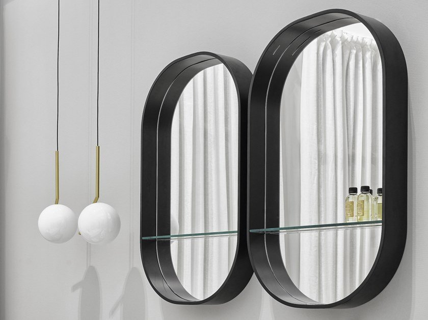 Oval framed wall-mounted mirror EOS-C by Ceramica Cielo