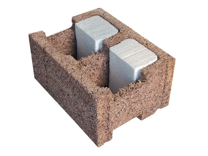 Thermal insulating concrete block EP 38/14 by Legnobloc
