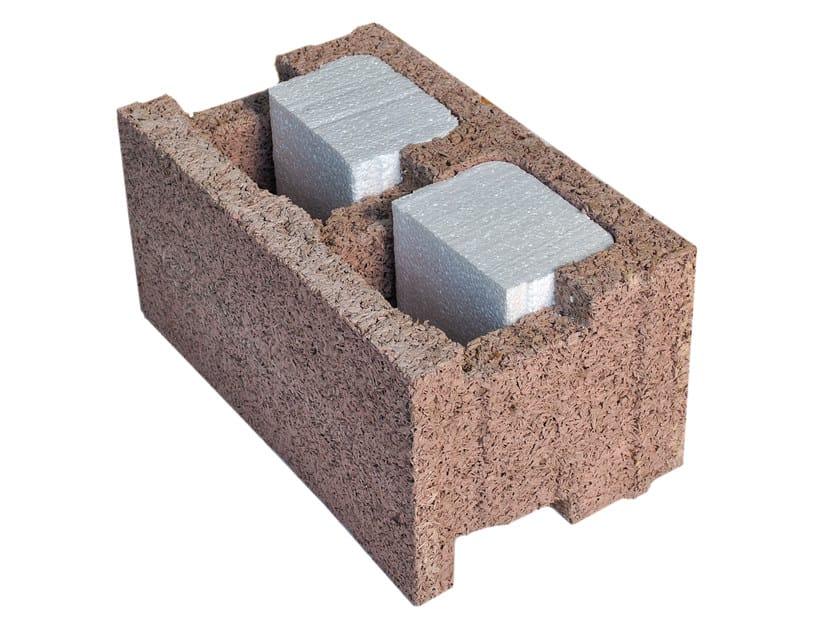 External masonry block in wood-concrete EP 38/18 by Legnobloc