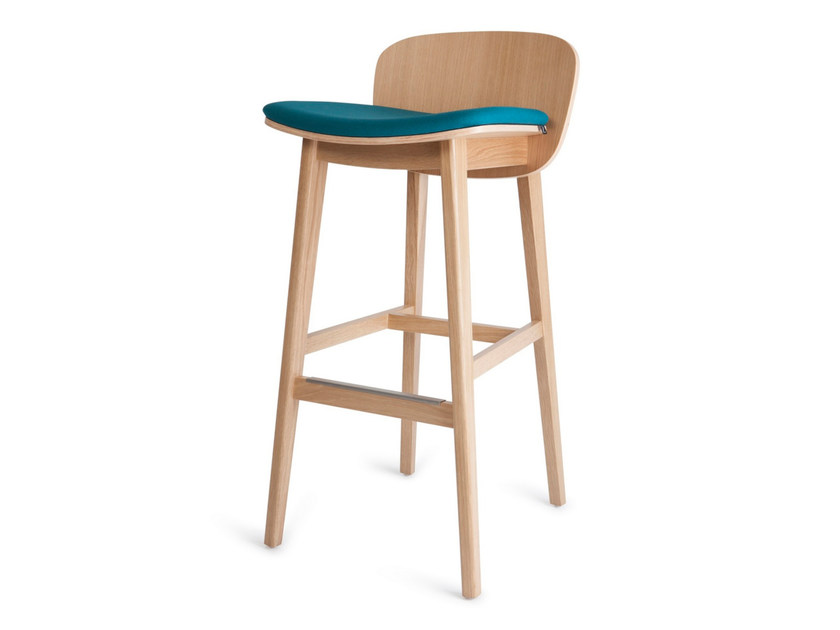High upholstered fabric stool with footrest EPIC KL 82 01 by Z-Editions