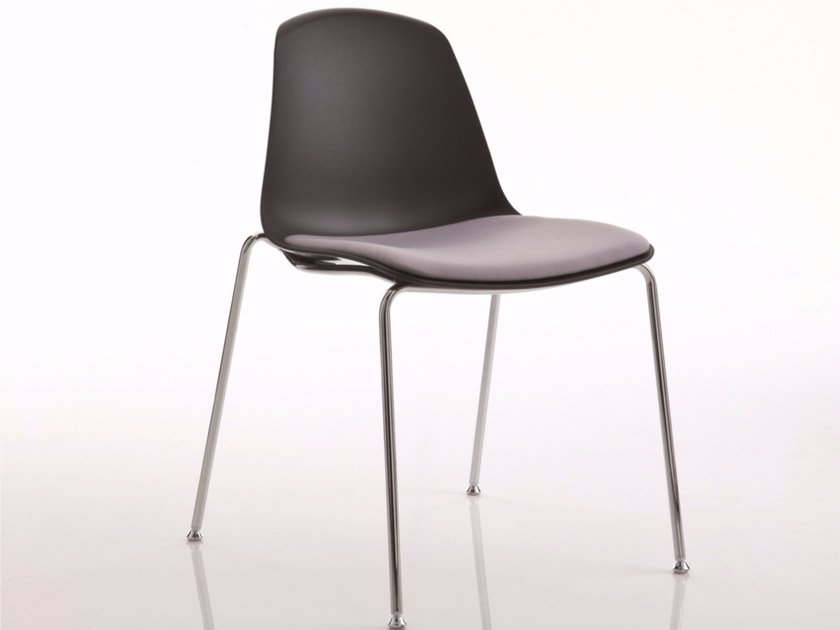 Upholstered stackable chair EPOCA | Upholstered chair by Luxy