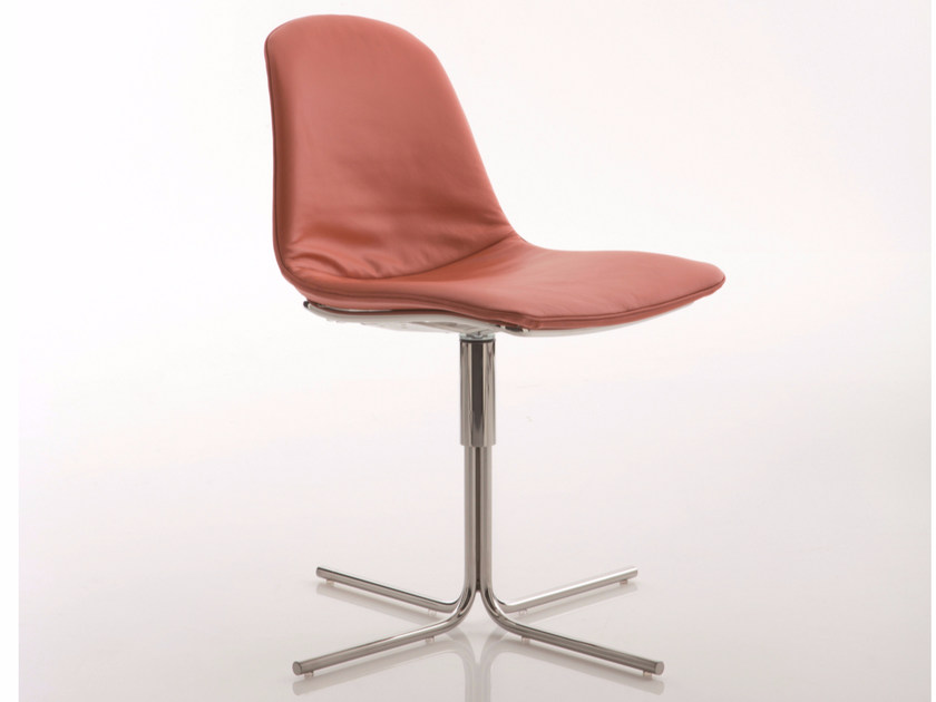 Upholstered fabric chair with 4-spoke base EPOCA | Chair with 4-spoke base by Luxy