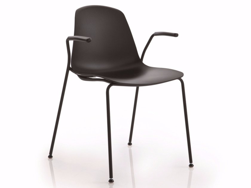 Stackable chair with armrests EPOCA | Chair with armrests by Luxy