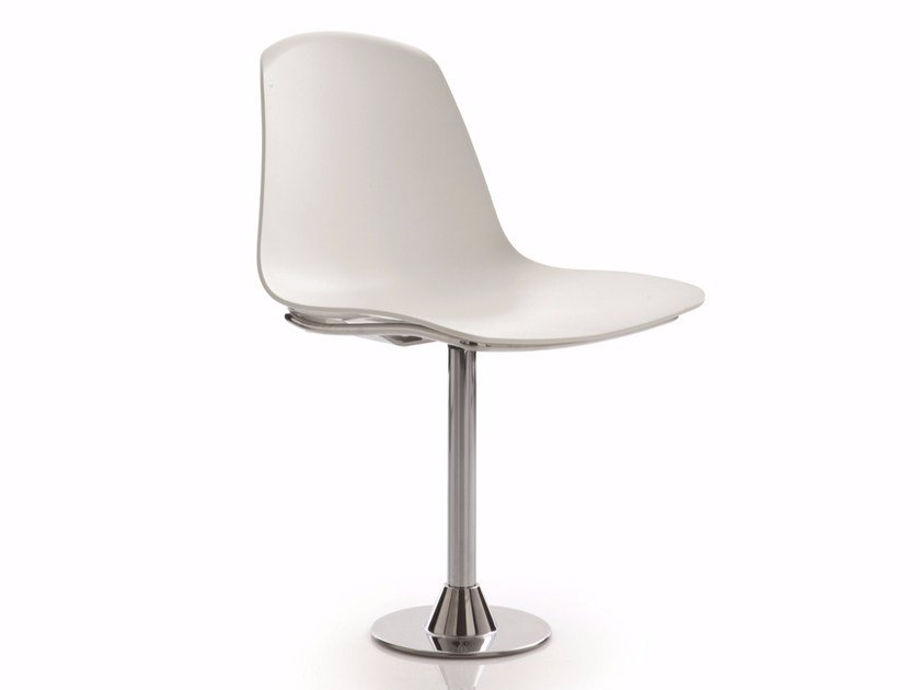 Swivel upholstered polypropylene chair EPOCA | Swivel chair by Luxy