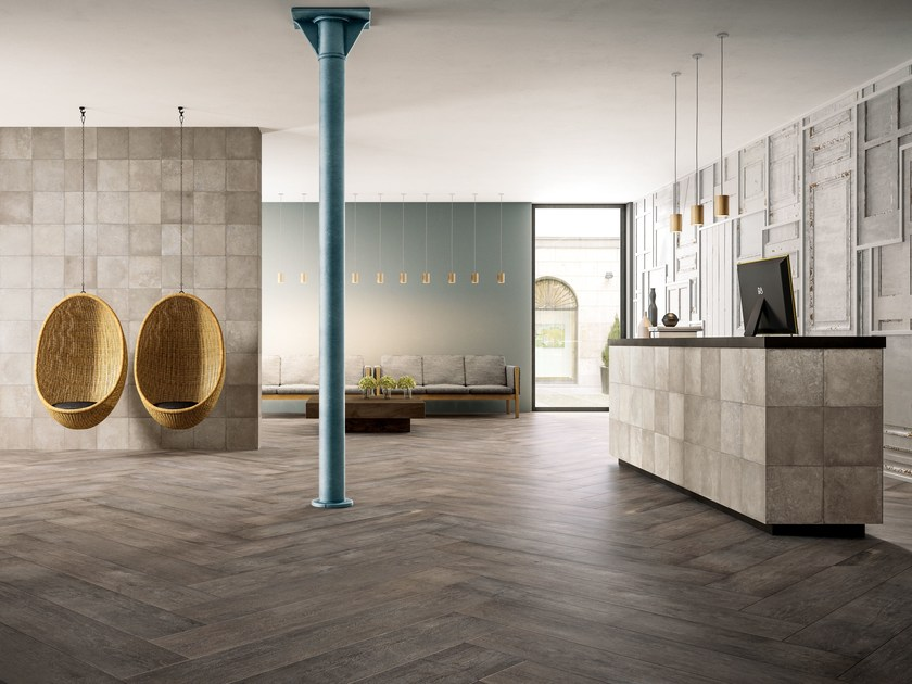 Porcelain stoneware flooring with wood effect EPOQUE BOIS by Ceramiche Refin