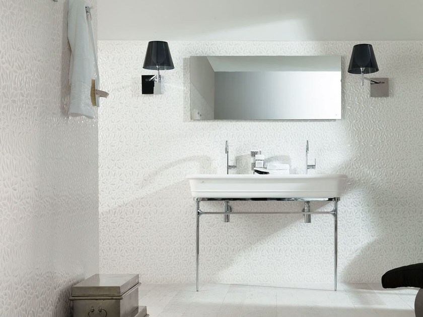Console washbasin with towel rail EPOQUE | Double washbasin by Systempool