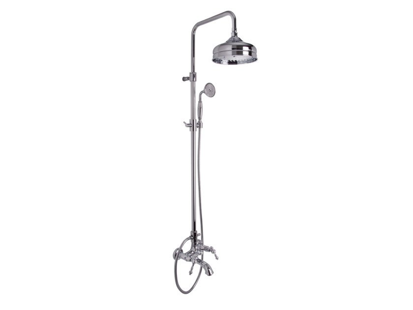 Wall-mounted shower panel with overhead shower EPOQUE F5054/2 | Shower panel by FIMA Carlo Frattini