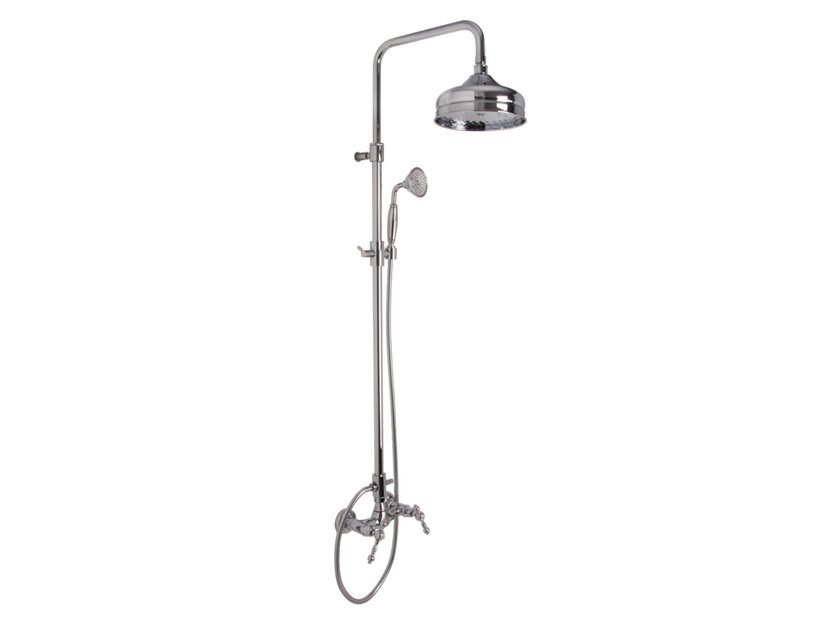 Wall-mounted shower panel with overhead shower EPOQUE F5055/2 | Shower panel by FIMA Carlo Frattini