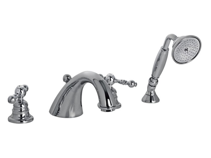 4 hole bathtub tap with hand shower EPOQUE F5064 | Bathtub tap by FIMA Carlo Frattini