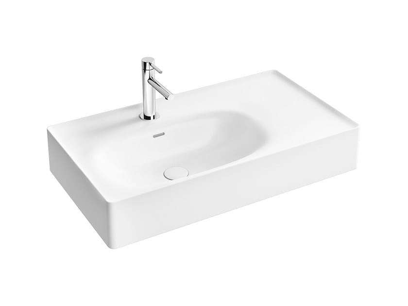 Lavabo sospeso in ceramica con piano EQUAL | Lavabo singolo by VitrA Bathrooms