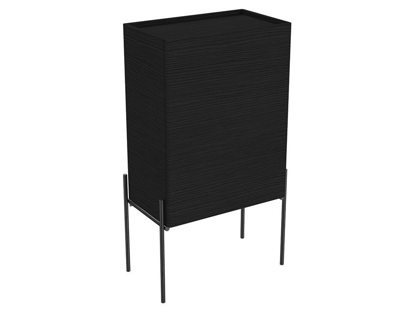 Tall wooden bathroom cabinet with doors EQUAL | Tall bathroom cabinet by VitrA Bathrooms