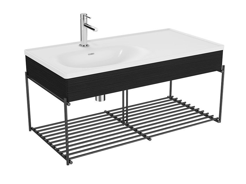 Mobile lavabo singolo sospeso con porta asciugamani EQUAL | Mobile lavabo sospeso by VitrA Bathrooms