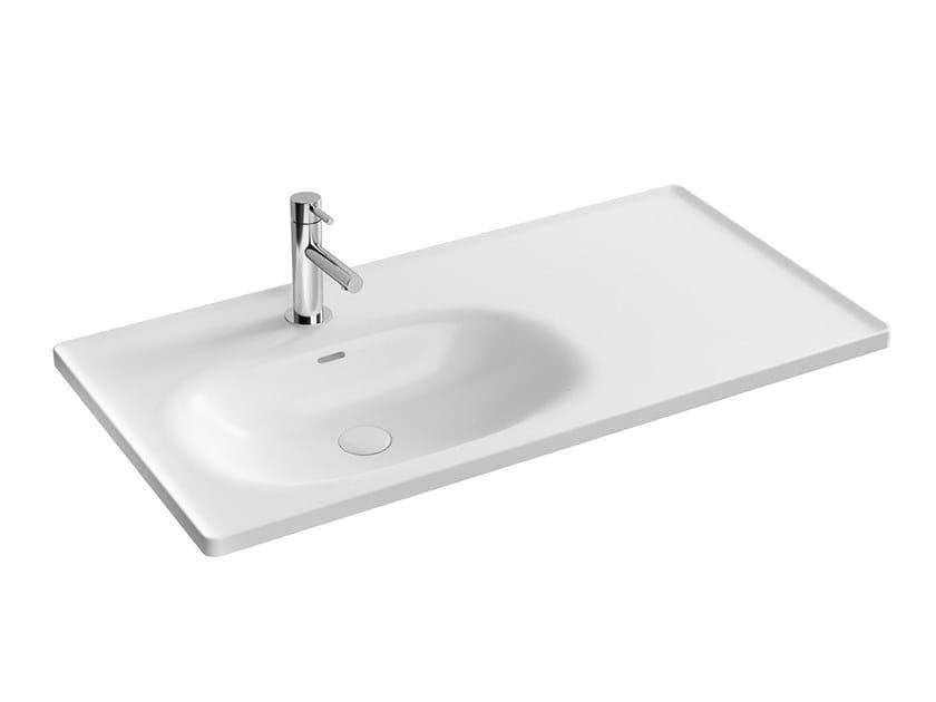 Lavabo sospeso in ceramica con piano EQUAL | Lavabo con piano by VitrA Bathrooms