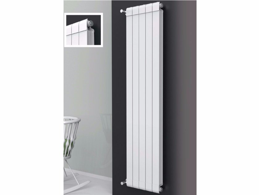 Elegant Hot Water Vertical Wall Mounted Extruded Aluminium Decorative Radiator  EQUALIS By Radiatori 2000