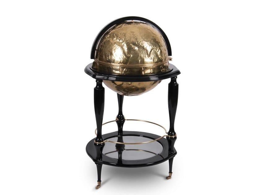 Brass bar cabinet EQUATOR GLOBE GOLD | Brass bar cabinet by Boca do Lobo