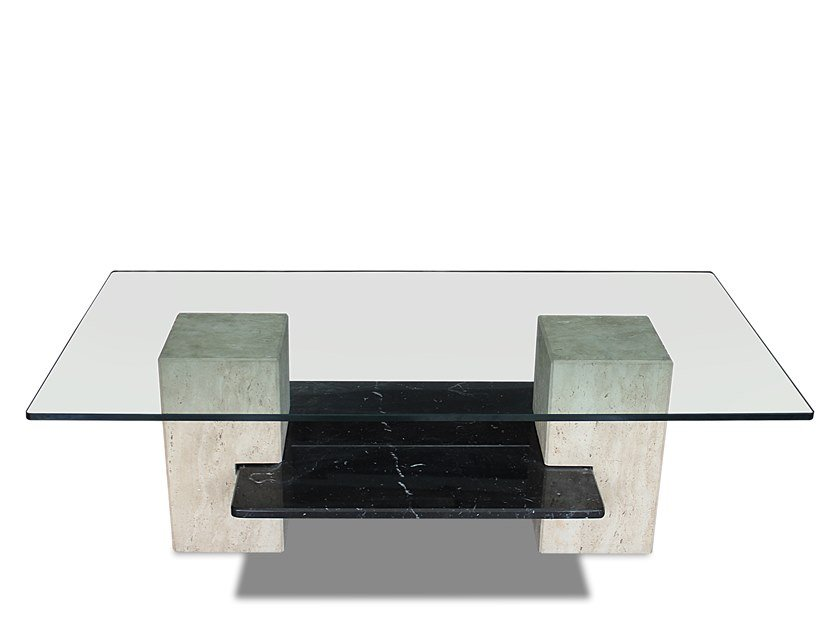 Low glass coffee table EQUILIBRIUM by HEBANON