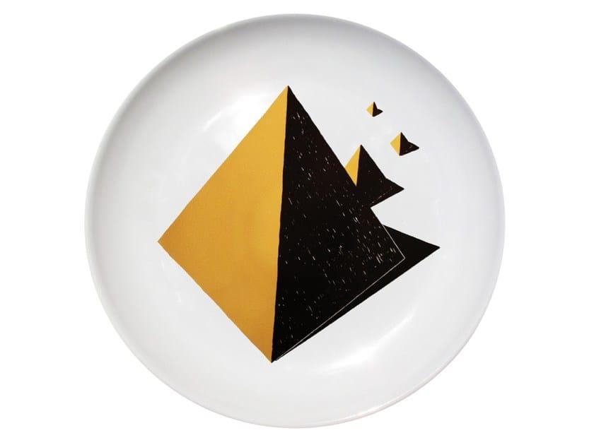 Ceramic dinner plate EQUINOX by Kiasmo
