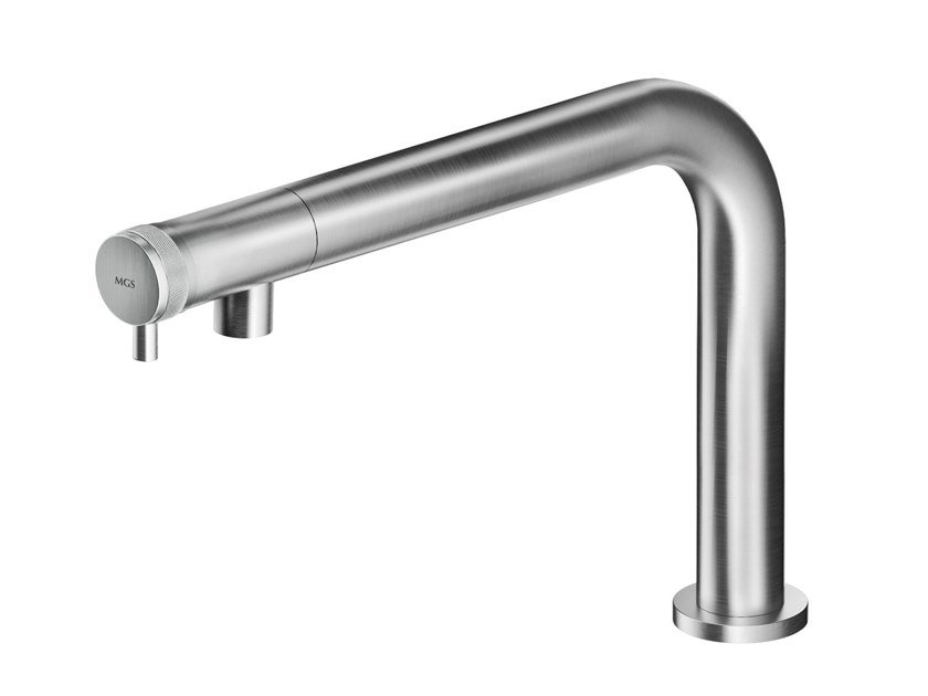 Countertop stainless steel washbasin mixer ER237 | Washbasin mixer by MGS