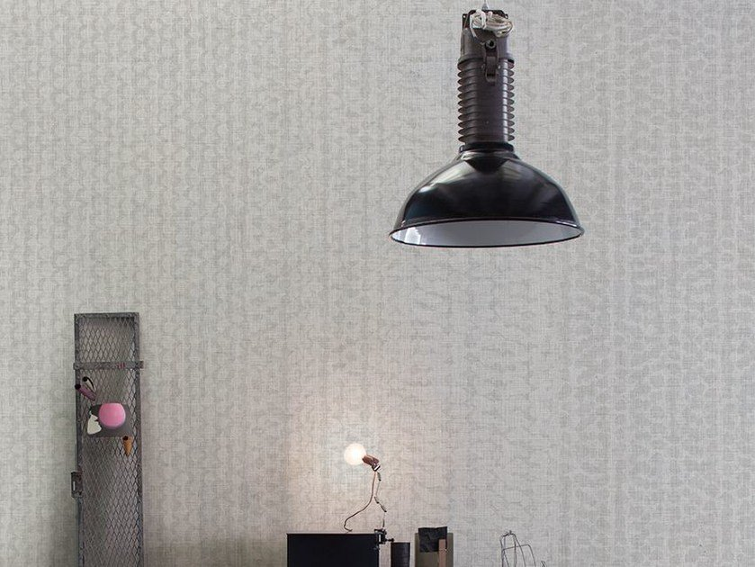 Motif wallpaper with textile effect ERACLITO by Inkiostro Bianco