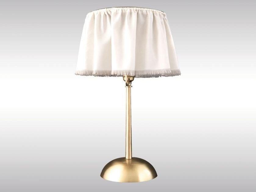 Brass bedside lamp eranda by Woka Lamps Vienna