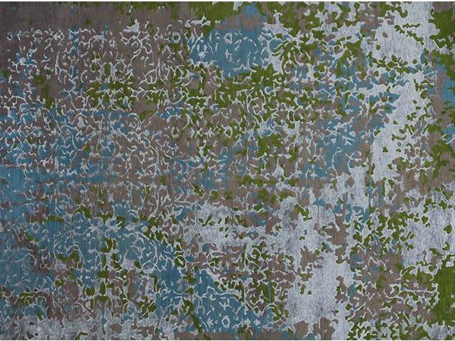 Handmade rectangular custom rug ERASURE MULTI by EDITION BOUGAINVILLE