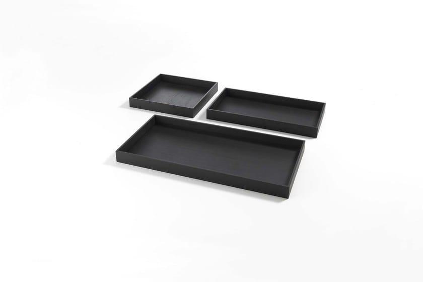 Rectangular wooden tray ERCOLE VASSOIO by Frigerio Salotti
