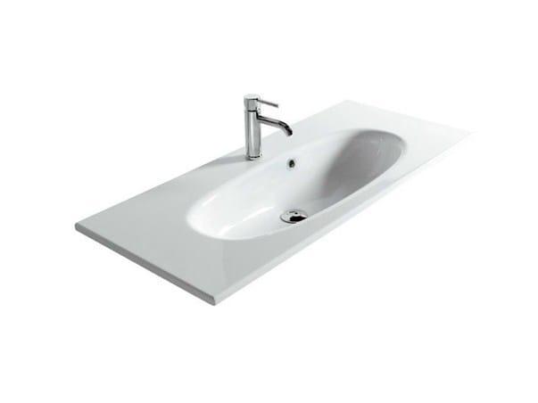 Ceramic washbasin ERGO - 105 CM by GALASSIA