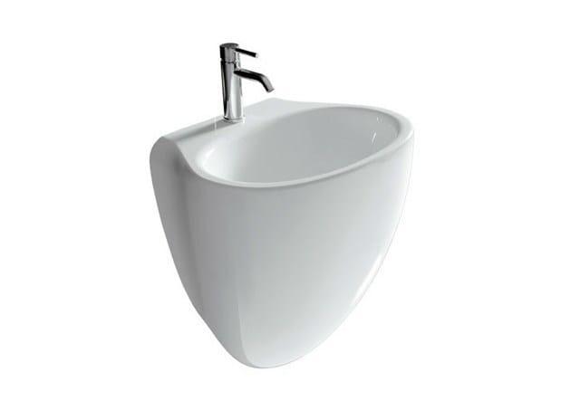 Wall-mounted ceramic washbasin ERGO - 55 CM | Washbasin by GALASSIA
