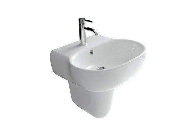 Wall-mounted ceramic washbasin ERGO - 70 CM by GALASSIA
