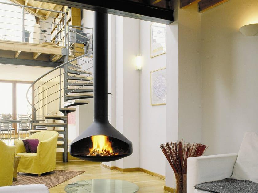 Open hanging steel fireplace ERGOFOCUS by Focus creation