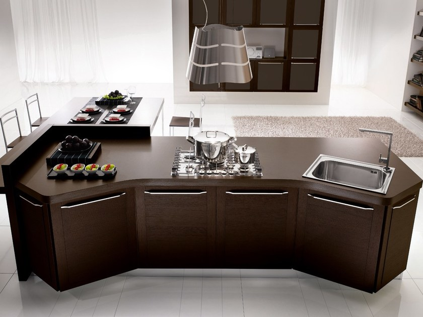 Ergonomic wooden kitchen with handles QUADRA | Ergonomic kitchen by DIBIESSE