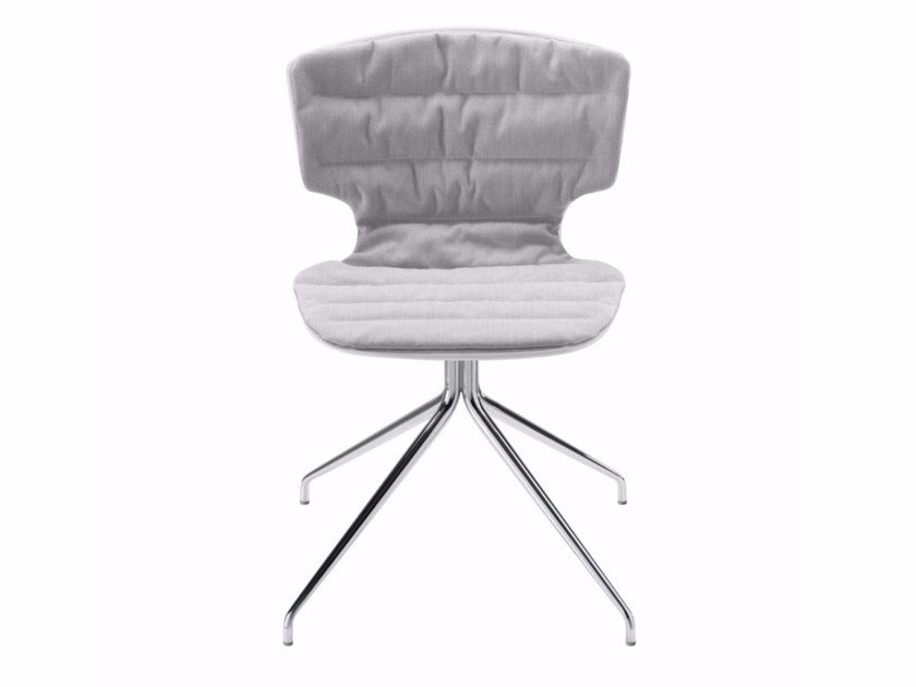Upholstered trestle-based fabric chair ERICE PAD SOFT - 51Z | Trestle-based chair by Alias