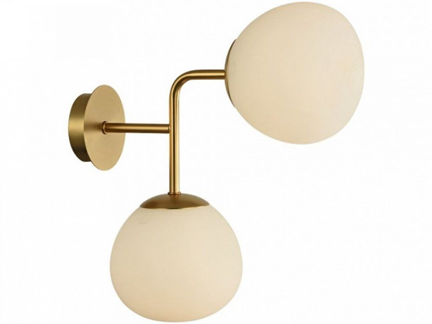 Glass wall lamp with fixed arm ERICH | Wall lamp by MAYTONI