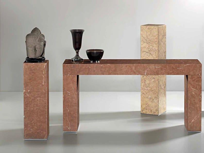 Rectangular Rojo Alicante marble console table ERMETE | Rojo Alicante marble console table by International Marmi