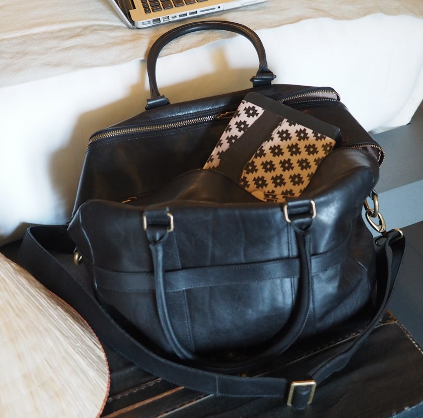 Leather bag ERNEST NOIR by Elisabeth Leroy Collections