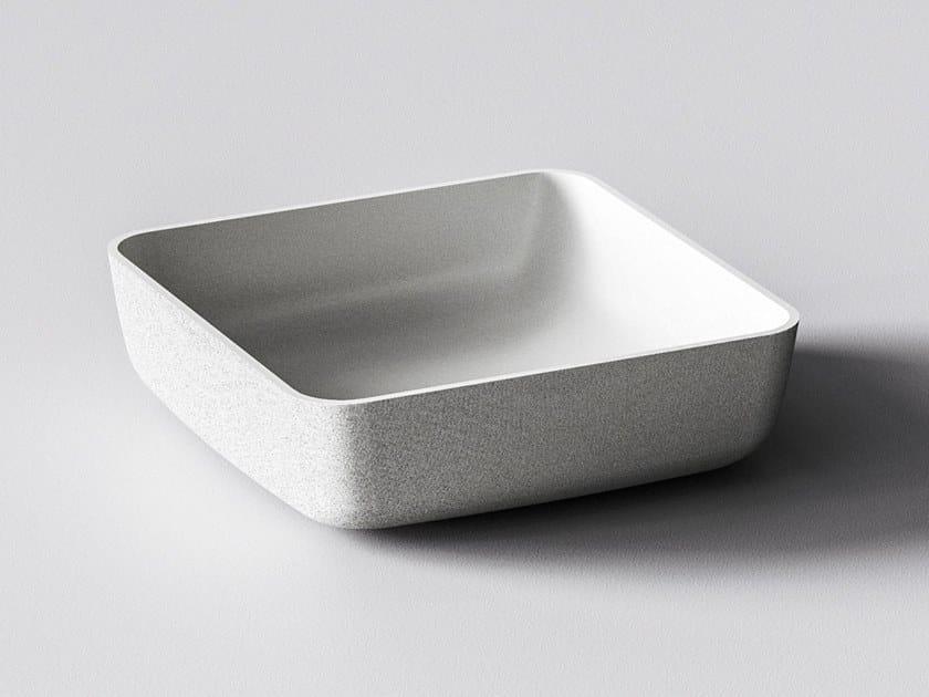 3D printed quartz sand washbasin EROS by Sandhelden