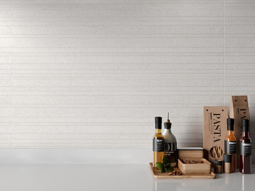 White-paste wall tiles with stone effect ERTA by PERONDA