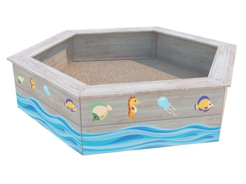 Vasca di sabbia in legno ESAGONALE by Zuri Design
