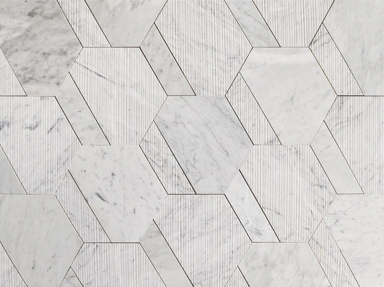 Marble wall/floor tiles ESATRAP by Lithos Mosaico Italia