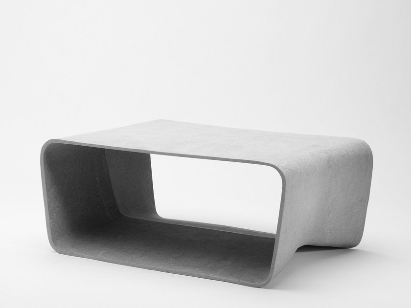 Low cement garden side table ECAL | Coffee table by SWISSPEARL Italia