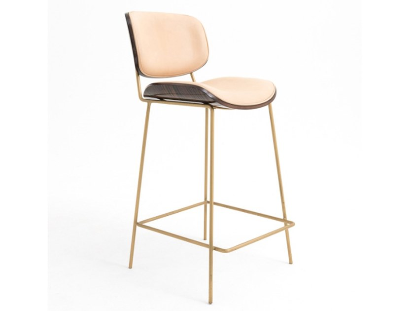 High metal barstool with back ESCOBAR by ArianeSké