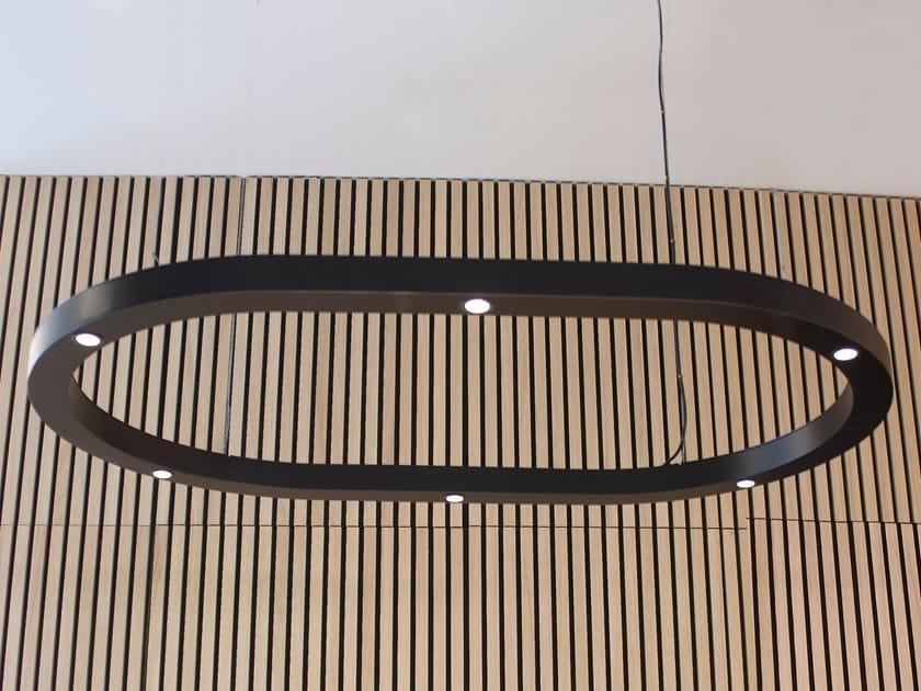 LED handmade metal pendant lamp ESPACE OVAL by Luz Difusión