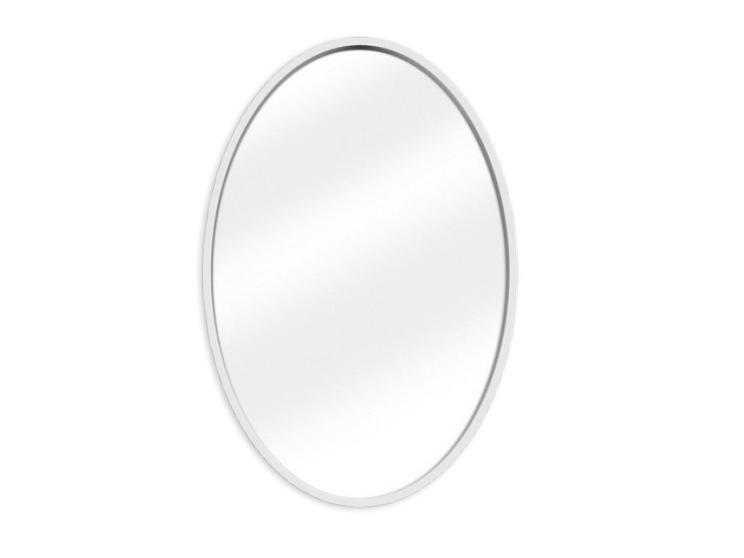 Specchio con cornice bianca specchio ovale design smepool.com