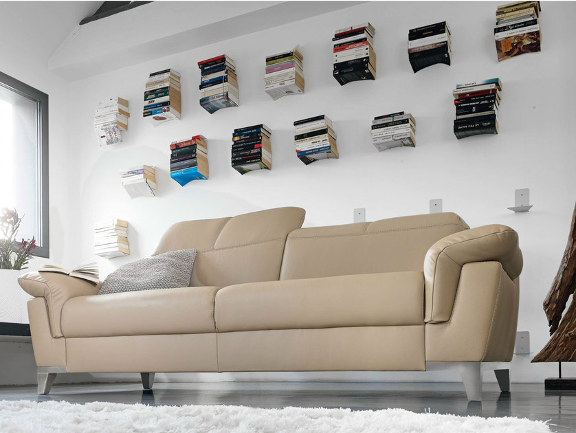 Upholstered leather sofa ESPERIA | Leather sofa by GAUTIER FRANCE