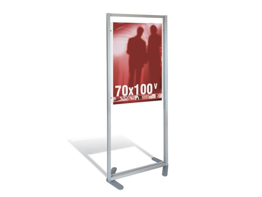 Floor-standing aluminium retail display unit Floor display for 70x100 poster by STUDIO T