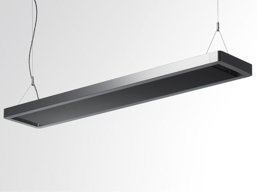 Indirect light fluorescent aluminium pendant lamp ESPRIT   Indirect light pendant lamp by Artemide